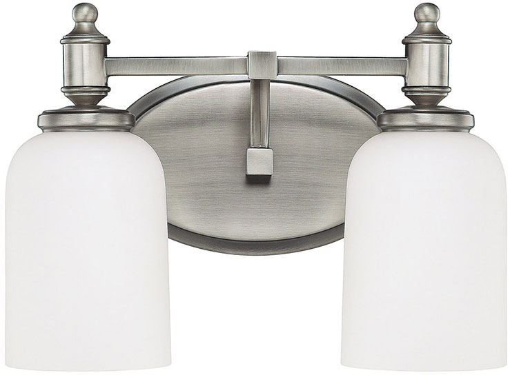 Capital lighting 8442an 102 covington antique nickel 2 for 6 light bathroom vanity light