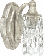 Capital Lighting 8521AS-CR Blakely Antique Silver Wall Light Fixture