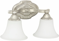 Capital Lighting 8522AS-114 Blakely Traditional Antique Silver 2-Light Bathroom Lighting