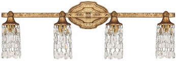 Capital Lighting 8524AG-CR Blakely Traditional Antique Gold 4-Light Vanity Light