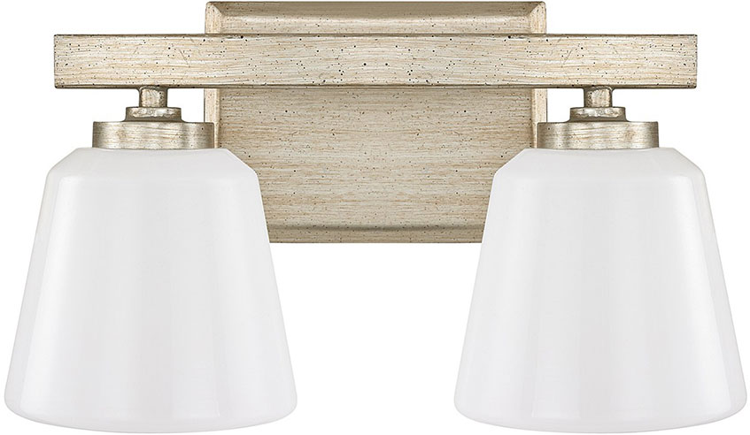 Winter Gold Vanity Lights : Capital Lighting 8532WG-300 Berkeley Winter Gold 2-Light Bathroom Vanity Lighting - CPT-8532WG-300