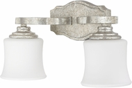 Capital Lighting 8552AS-299 Blair Traditional Antique Silver 2-Light Bath Sconce