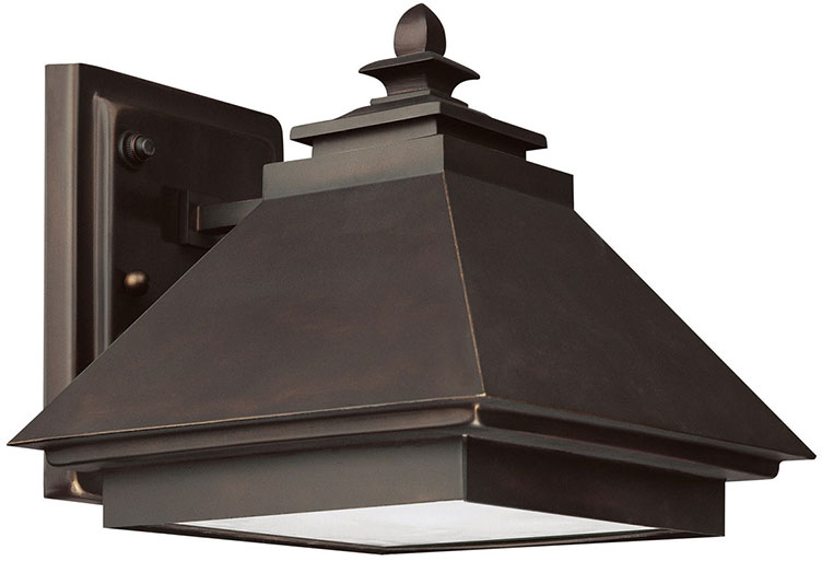 Fluorescent Exterior Wall Lights : Capital Lighting 9092BB-GD Dark Sky Med. Bronze Fluorescent Exterior Wall Sconce Light - CPT ...