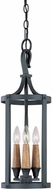 Capital Lighting 9153BI Heritage Black Iron Entryway Light Fixture