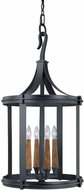 Capital Lighting 9154BI Heritage Black Iron Foyer Lighting