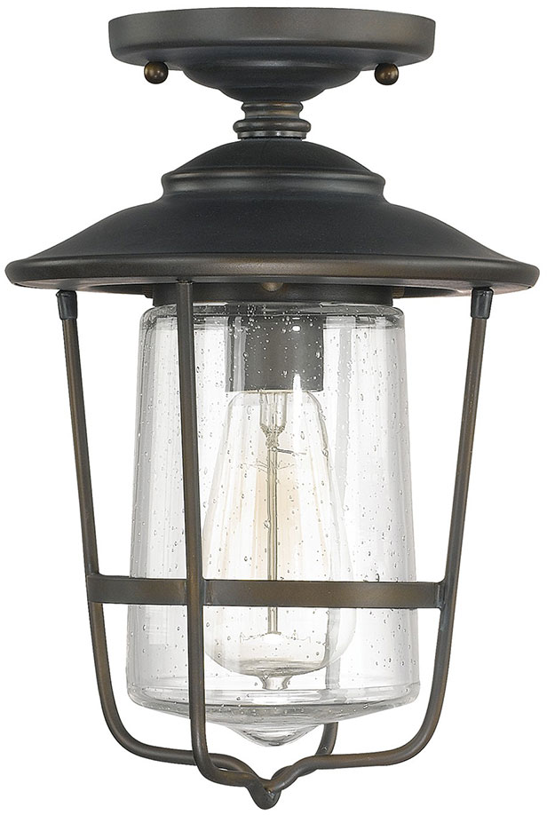 Capital Lighting 9607OB Creekside Old Bronze Exterior Flush Mount ...
