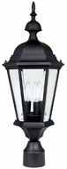 Capital Lighting 9725BK Carriage House Traditional Black Exterior Post Lamp