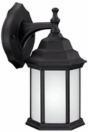 Capital Lighting 9830BK-GU Energy Saver Traditional Black Fluorescent Outdoor Wall Light Sconce