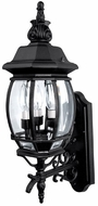 Capital Lighting 9863BK French Country Traditional Black Outdoor Wall Sconce Light