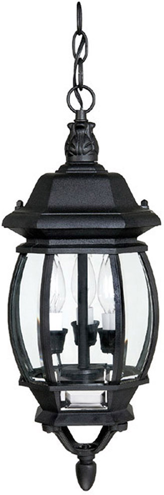 Capital Lighting 9864bk French Country Traditional Black Exterior Pendant Light Fixture Cpt 9864bk