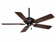 Casablanca 54035 Utopian Brushed Cocoa Pull Chain Ceiling Fan With Distressed Antique Halifax Blades