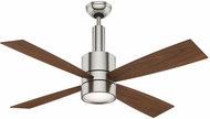Casablanca 59068 Bullet Brushed Nickel Halogen 54  Burnt Walnut Ceiling Fan