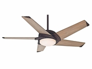 Casablanca 59092 Stealth� Modern Industrial Rust Finish 54  Wide Home Ceiling Fan