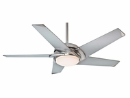 Casablanca 59094 Stealth� Modern Brushed Nickel Finish Home Ceiling Fan - 54  Wide