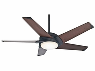 Casablanca 59107 Stealth DC Contemporary Maiden Bronze Finish Ceiling Fan - 54  Wide