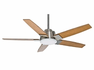 Casablanca 59109 Zudio Brushed Nickel Finish Home Ceiling Fan - 56  Wide
