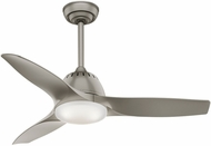 Casablanca 59150 Wisp Small Room Modern Pewter LED 44  Pewter Ceiling Fan