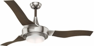 Casablanca 59167 Perseus Contemporary Brushed Nickel LED Indoor / Outdoor 64  Walnut Home Ceiling Fan