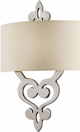 Corbett 102-12-F Olivia Contemporary Polished Nickel Fluorescent Wall Sconce