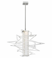 Corbett 185-41 Tantrum Modern White Finish 23.5  Wide LED Small Pendant Light