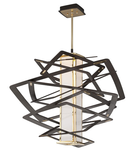Corbett 186 43 Tantrum Contemporary Bronze Finish 30 Nbsp Tall Led Large Pendant Lighting Fixture Loading Zoom