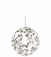 Corbett 187-43 Fathom Contemporary White Finish 31.375  Tall LED Large Hanging Light Fixture