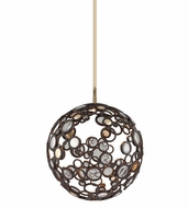 Corbett 188-41 Fathom Modern Bronze Finish 18  Wide LED Small Ceiling Light Pendant
