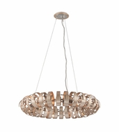 Corbett 191-412 Recoil Modern Textured Silver Leaf Finish 35.875  Wide Hanging Pendant Lighting