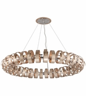 Corbett 191-418 Recoil Modern Textured Silver Leaf Finish 59.5  Wide Pendant Hanging Light