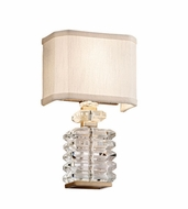 Corbett 198-12 First Date Contemporary Silver Leaf Finish 8.25 Wide Wall Lamp