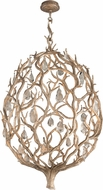 Corbett 205-43 Enchanted Contemporary Enchanted Silver Leaf LED Large Hanging Light