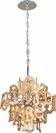 Corbett 208-44 Media Modern Polished Stainless Steel Small Drop Lighting Fixture