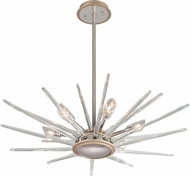Corbett 209-46 Chill Contemporary Silver Leaf Halogen Small Pendant Lamp