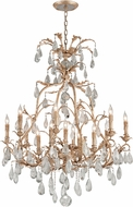Corbett 210-013 Vivaldi Modern Venetian Leaf Chandelier Lighting