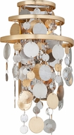 Corbett 215-12 Ambrosia Gold And Silver Leaf w/ Stainless Steel Wall Lamp