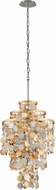 Corbett 215-45 Ambrosia Gold And Silver Leaf w/ Stainless Steel 18  Hanging Lamp