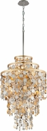 Corbett 215-47 Ambrosia Gold And Silver Leaf w/ Stainless Steel 24 Hanging Light