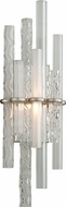 Corbett 219-11 Manhattan Modern Satin Silver Leaf LED Light Sconce
