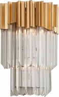 Corbett 220-12 Charisma Gold Leaf w/ Polished Stainless  Lamp Sconce