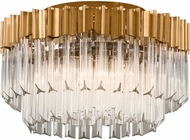 Corbett 220-33 Charisma Gold Leaf w/ Polished Stainless  Ceiling Lighting Fixture