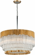 Corbett 220-48 Charisma Gold Leaf w/ Polished Stainless  26 Pendant Lamp