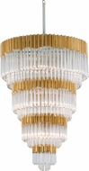 Corbett 220-717 Charisma Gold Leaf w/ Polished Stainless  36 Hanging Lamp