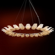 Corbett 222-412 Anello Contemporary Gold Leaf w/ Polished Stainless Accents 56.375 Hanging Light