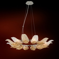 Corbett 222-46 Anello Modern Gold Leaf w/ Polished Stainless Accents 36 Pendant Light Fixture
