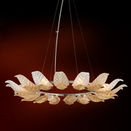 Corbett 222-48 Anello Contemporary Gold Leaf w/ Polished Stainless Accents 43 Pendant Lighting Fixture