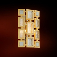 Corbett 223-11 Motif Modern Gold Leaf w/ Polished Stainless Accents Wall Lighting Sconce