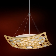 Corbett 223-43 Motif Contemporary Gold Leaf w/ Polished Stainless Accents 26 Hanging Pendant Lighting