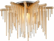 Corbett 238-31 Theory Contemporary Gold Leaf With Polished Stainless LED Ceiling Lighting
