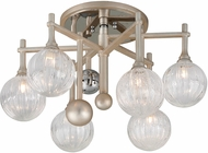 Corbett 241-36 Majorette Contemporary Silver Leaf With Polished Chrome Xenon Ceiling Light Fixture