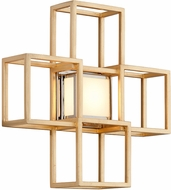 Corbett 242-12 Metropolis Contemporary Gold Leaf LED Lighting Sconce